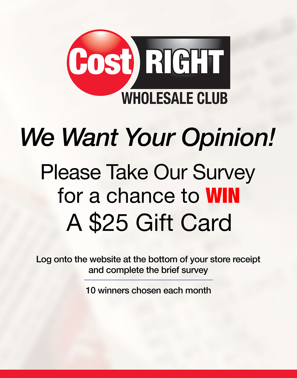 Cost Right Survey